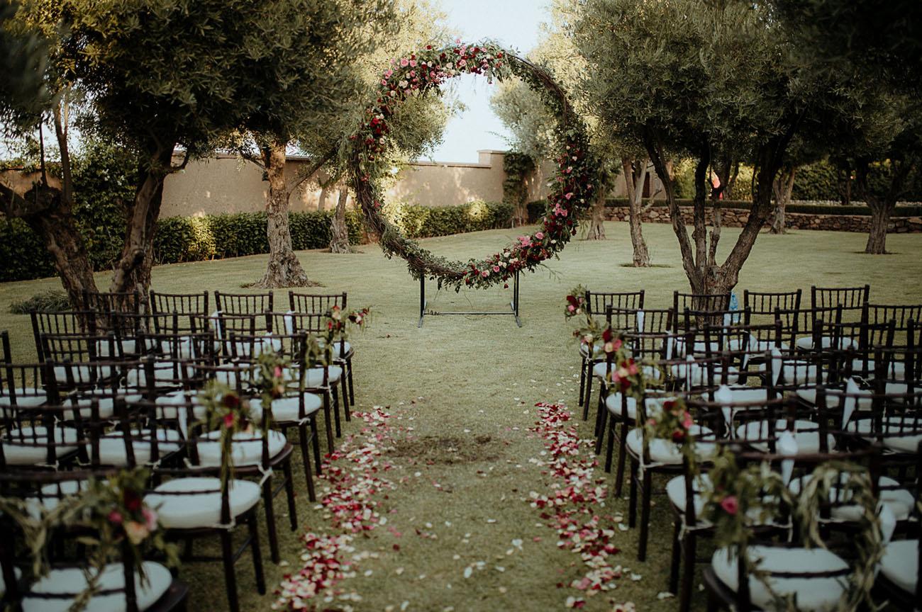 floral wreath backdrop