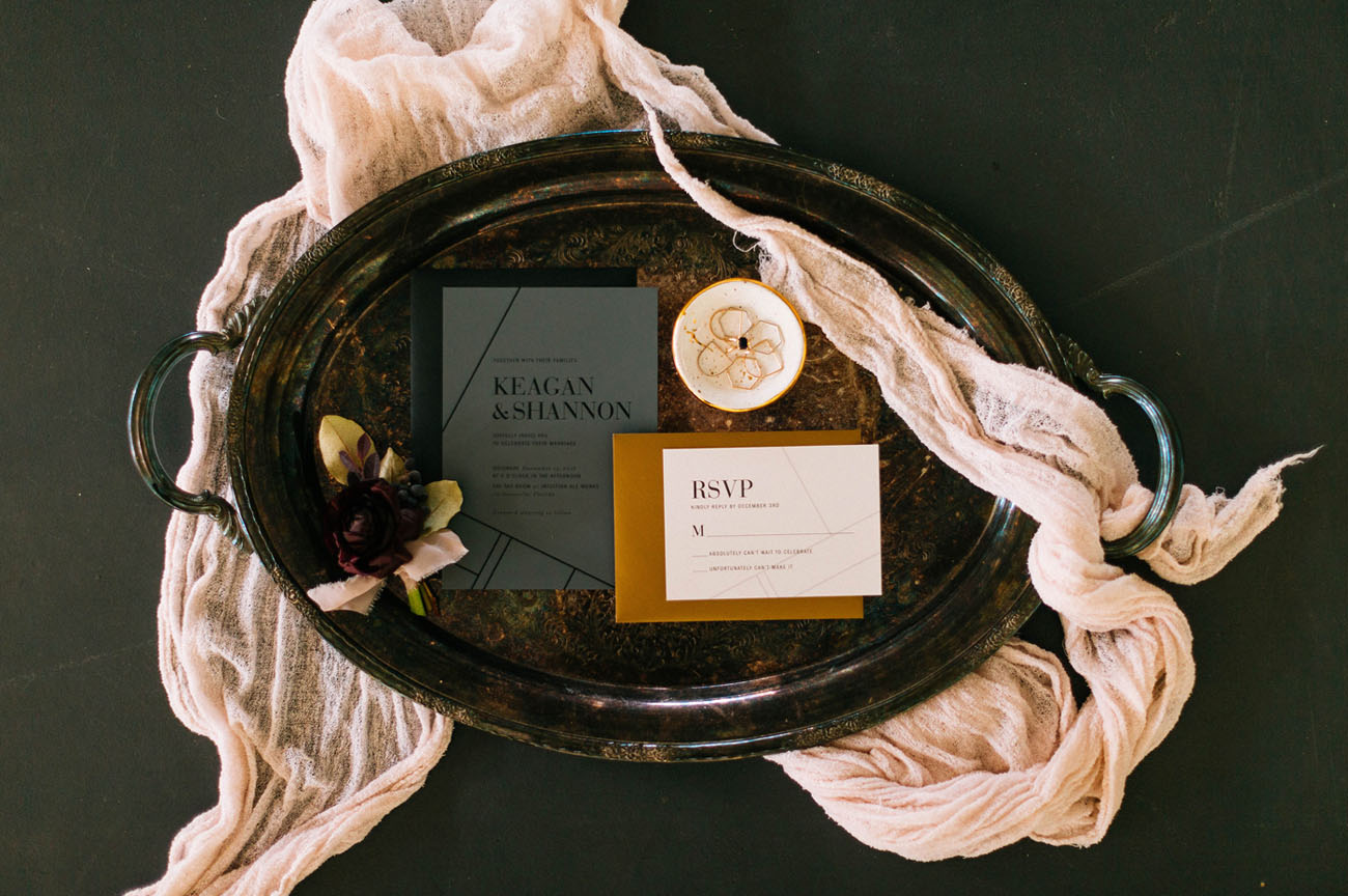 golden invitation