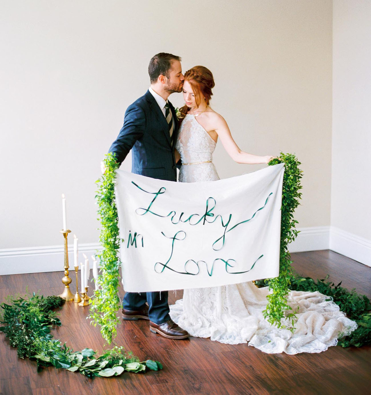 Pantone's Greenery Inspired this Glamorous Styled Shoot