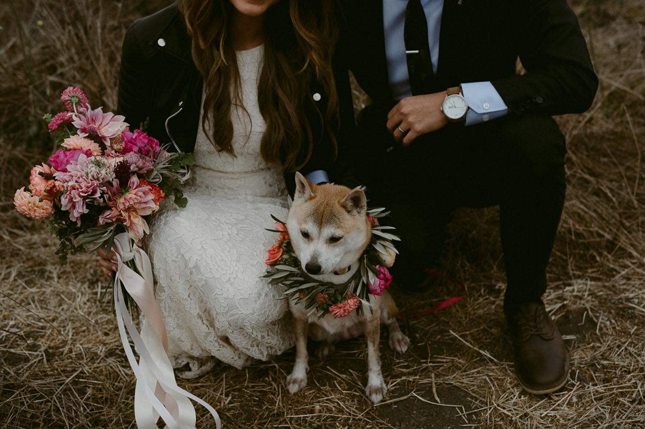 pup flower wreath