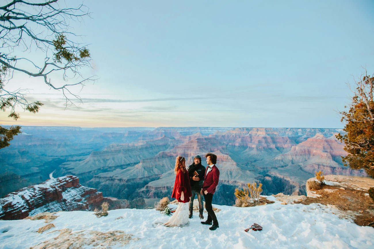 Legendary Sunrise Elopement in the Grand Canyon