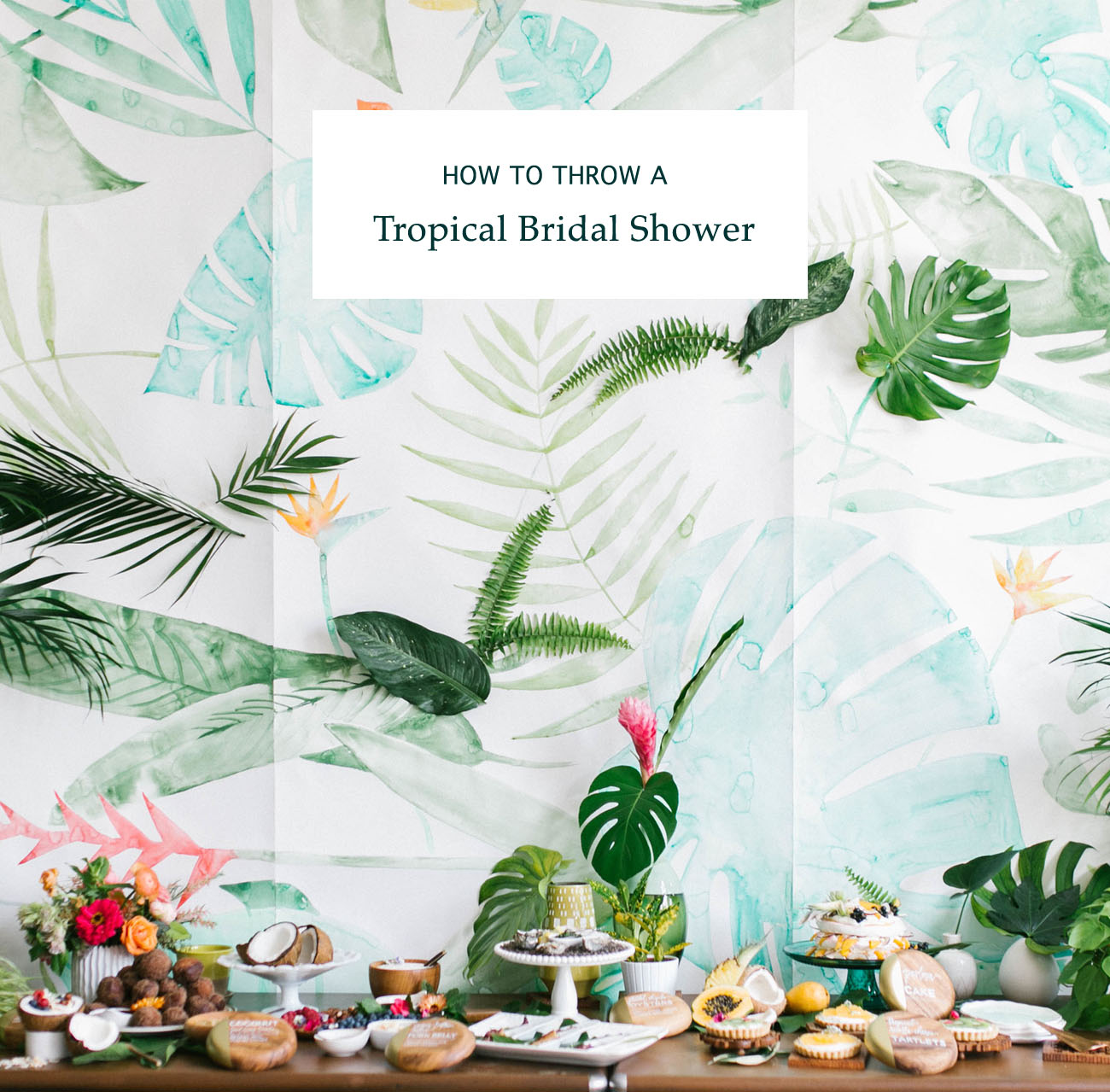 Tropical Bridal Shower