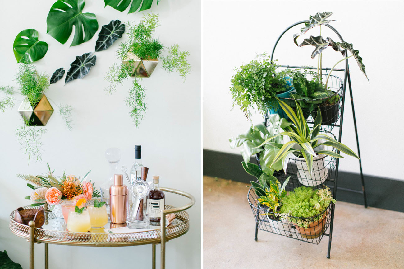 how to throw a tropical bridal shower green wedding shoes