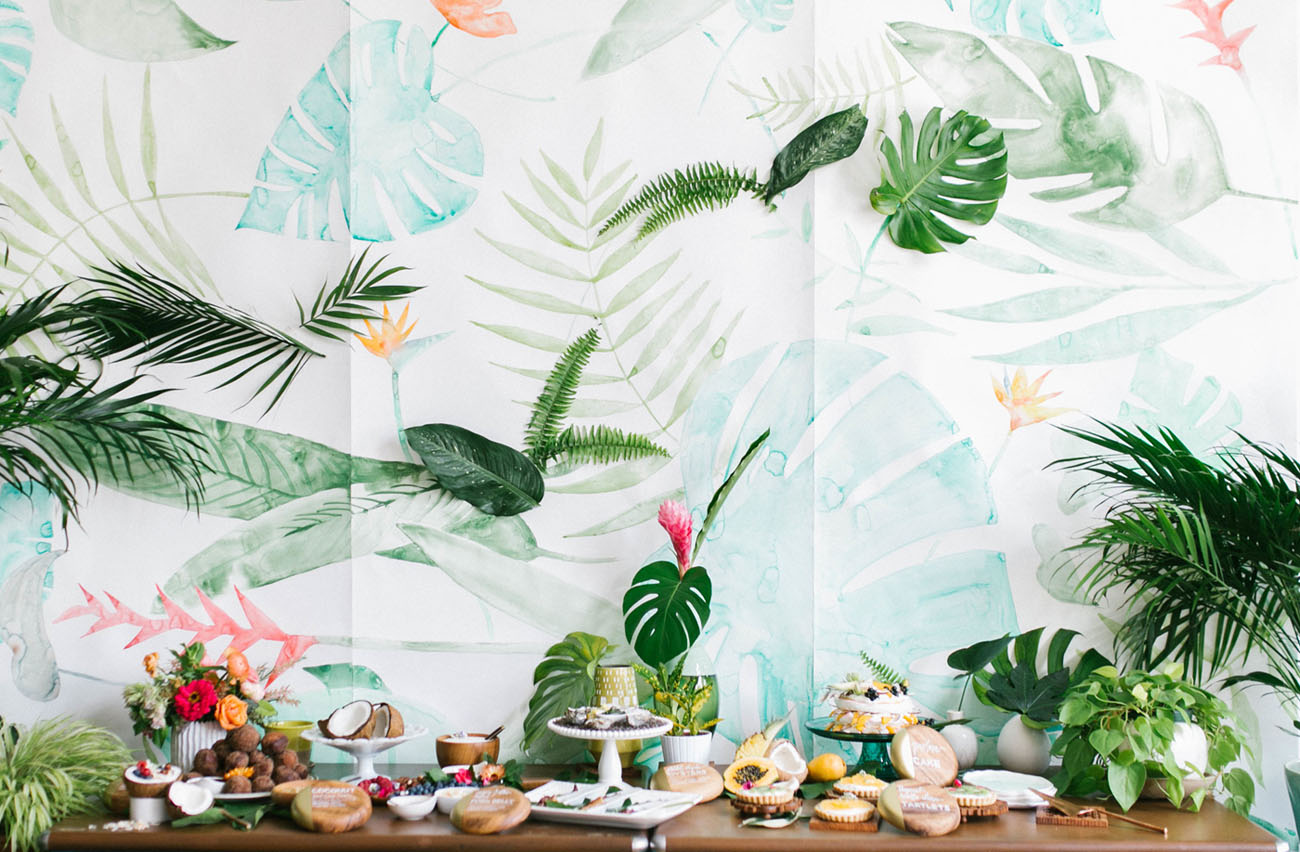 How To Throw a Tropical Bridal Shower - Green Wedding Shoes