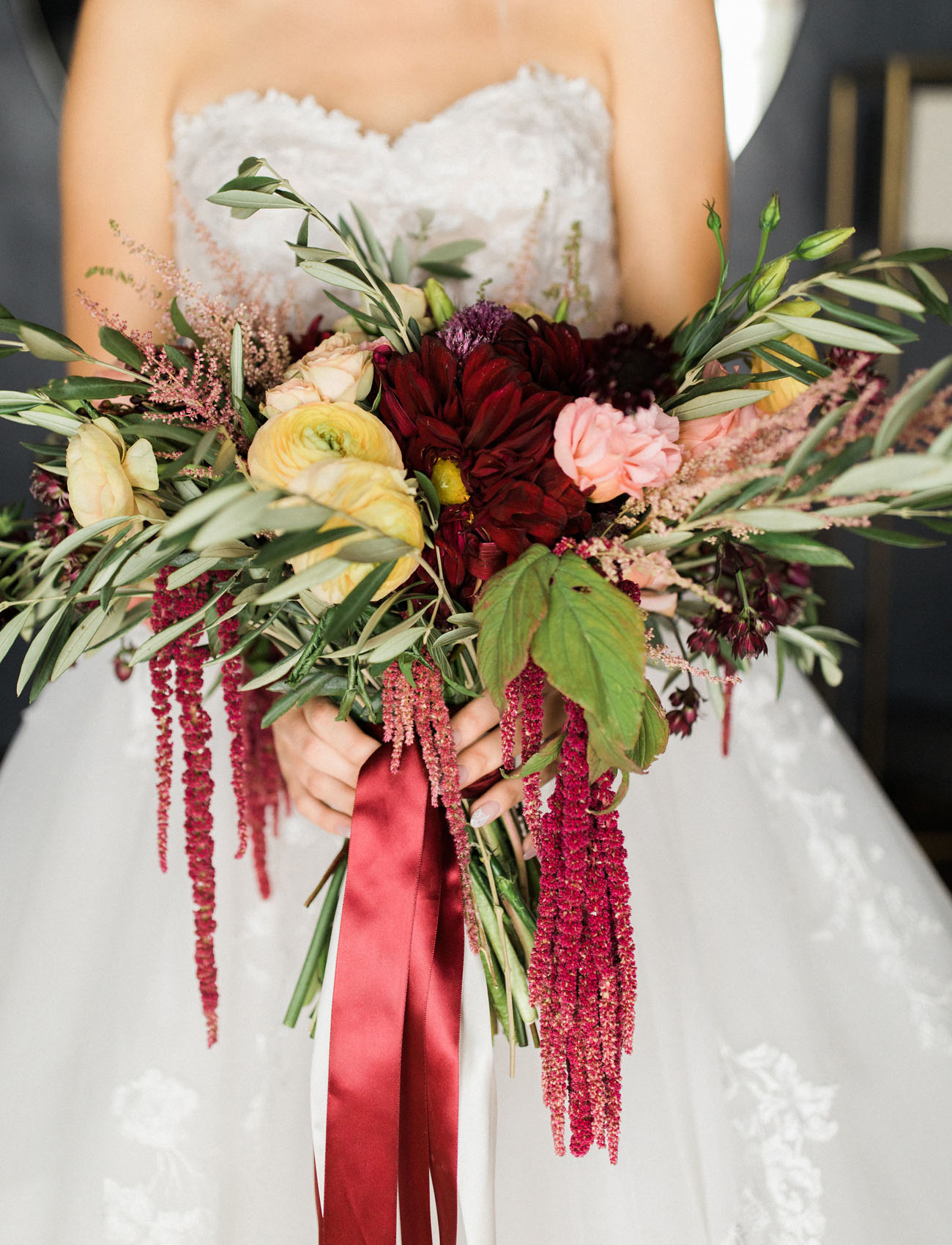 winter burgundy bouquet