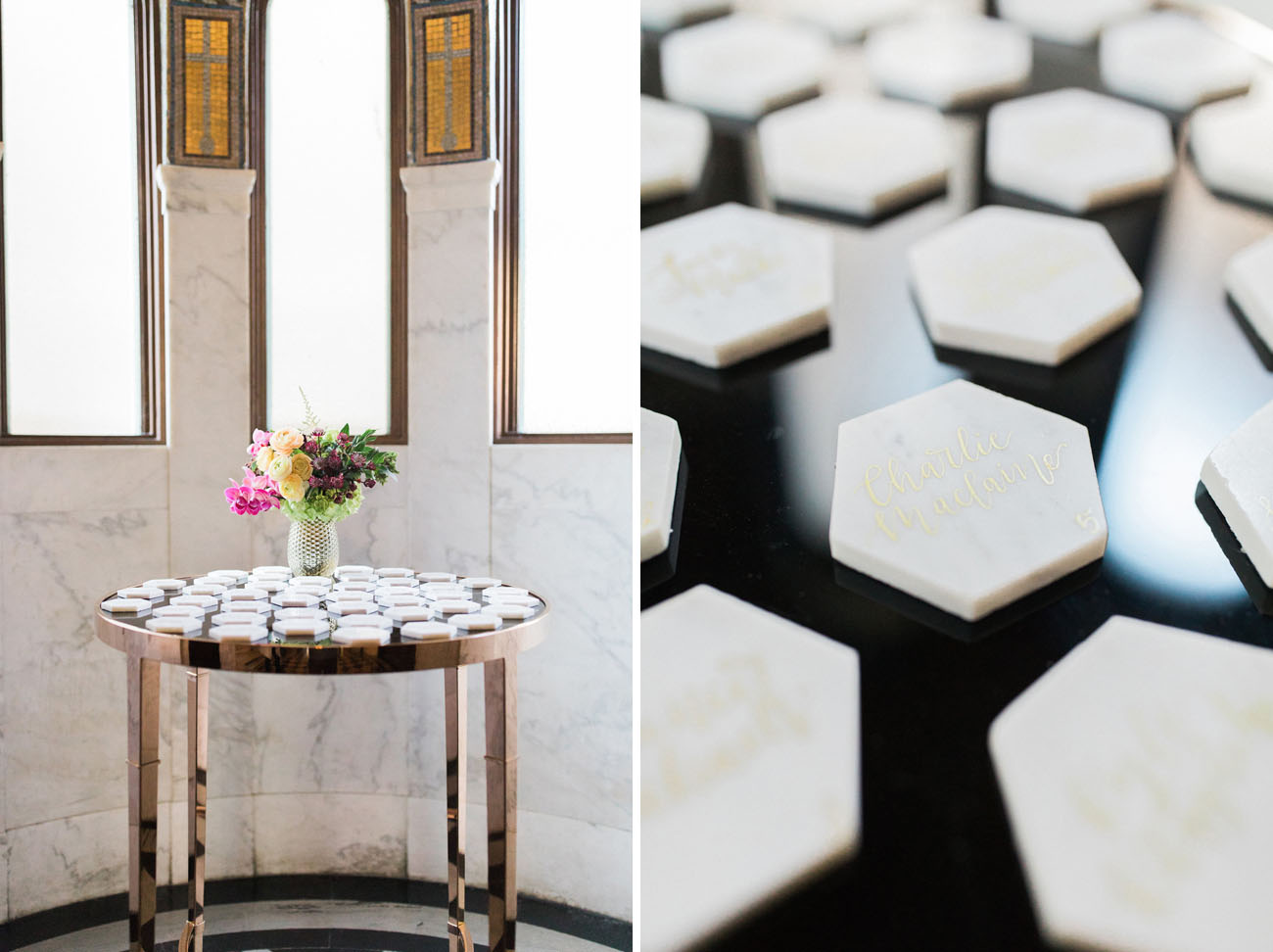 marble escort cards
