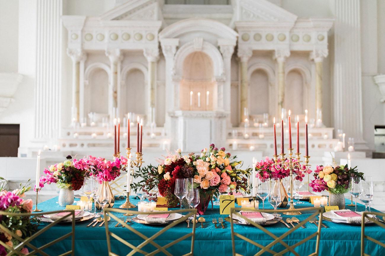 vibrant winter wedding inspiration
