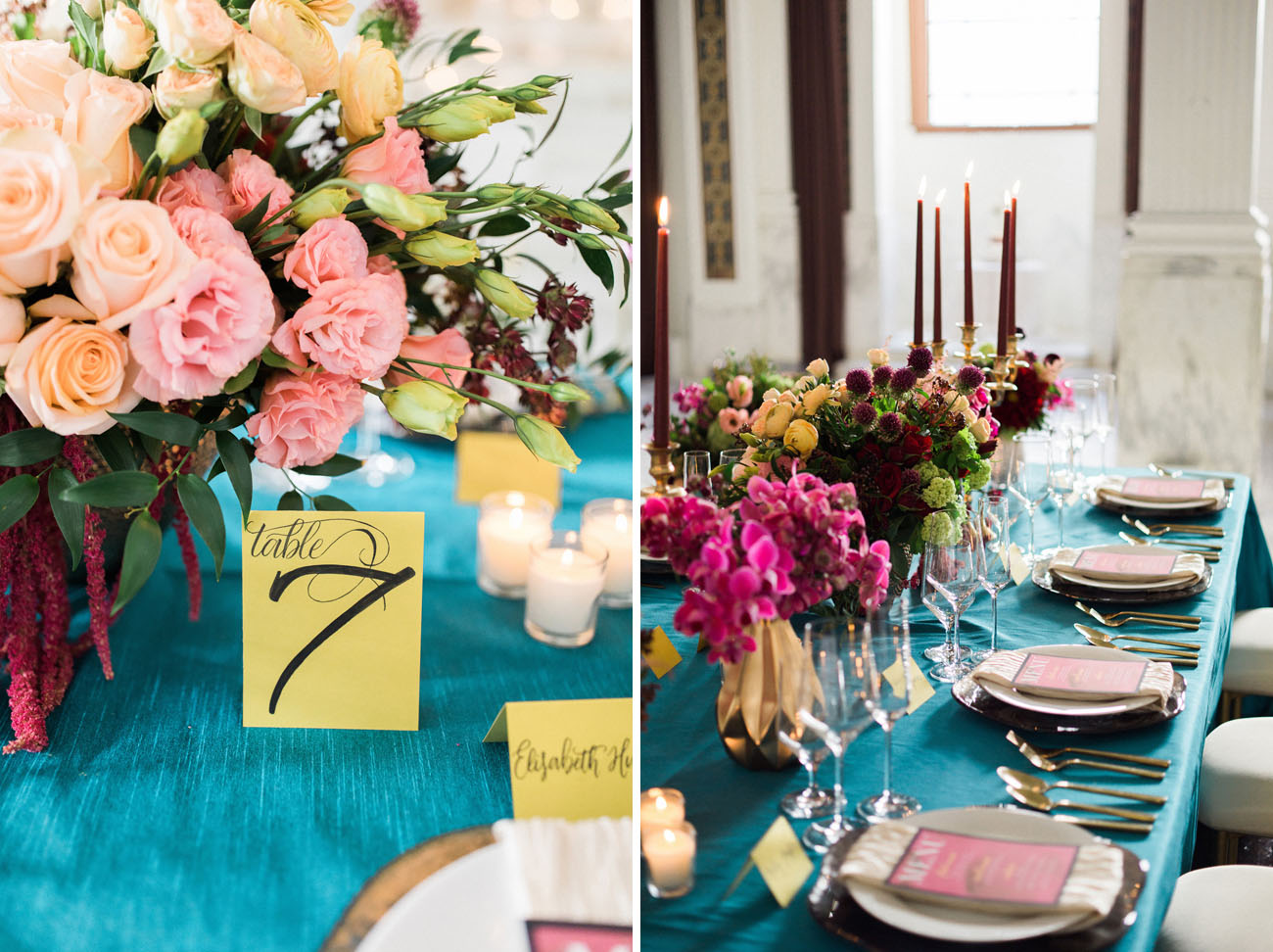 vibrant winter wedding inspiration