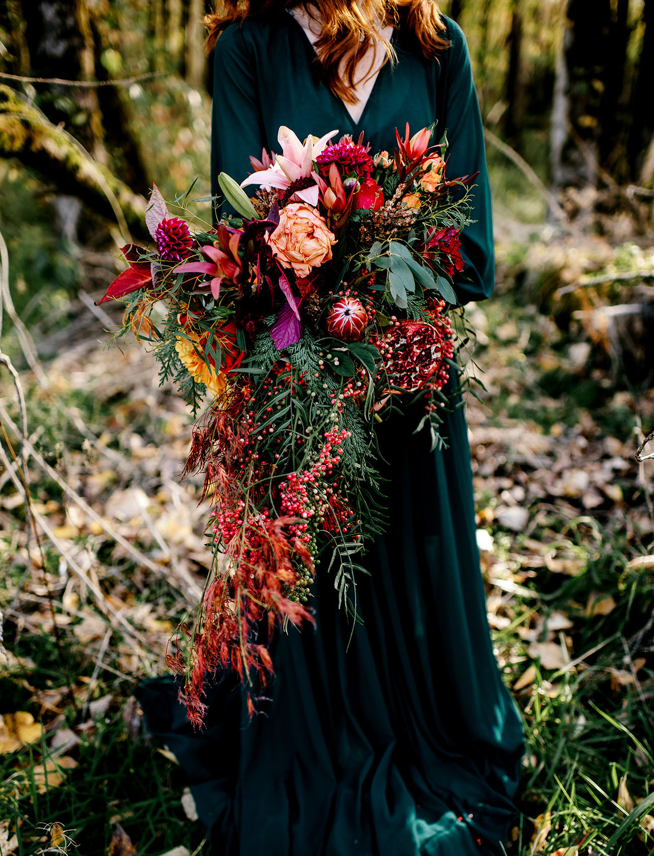 cascading Fall bouquet