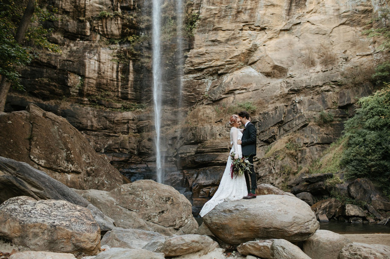 this waterfall wedding overflows with sweet details