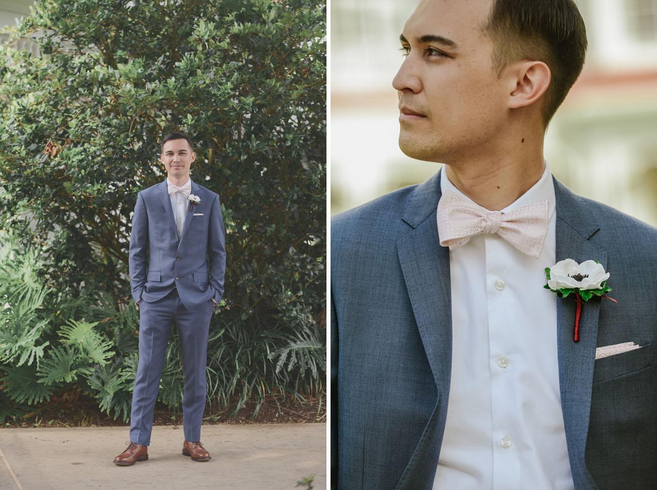 pink bow tie groom