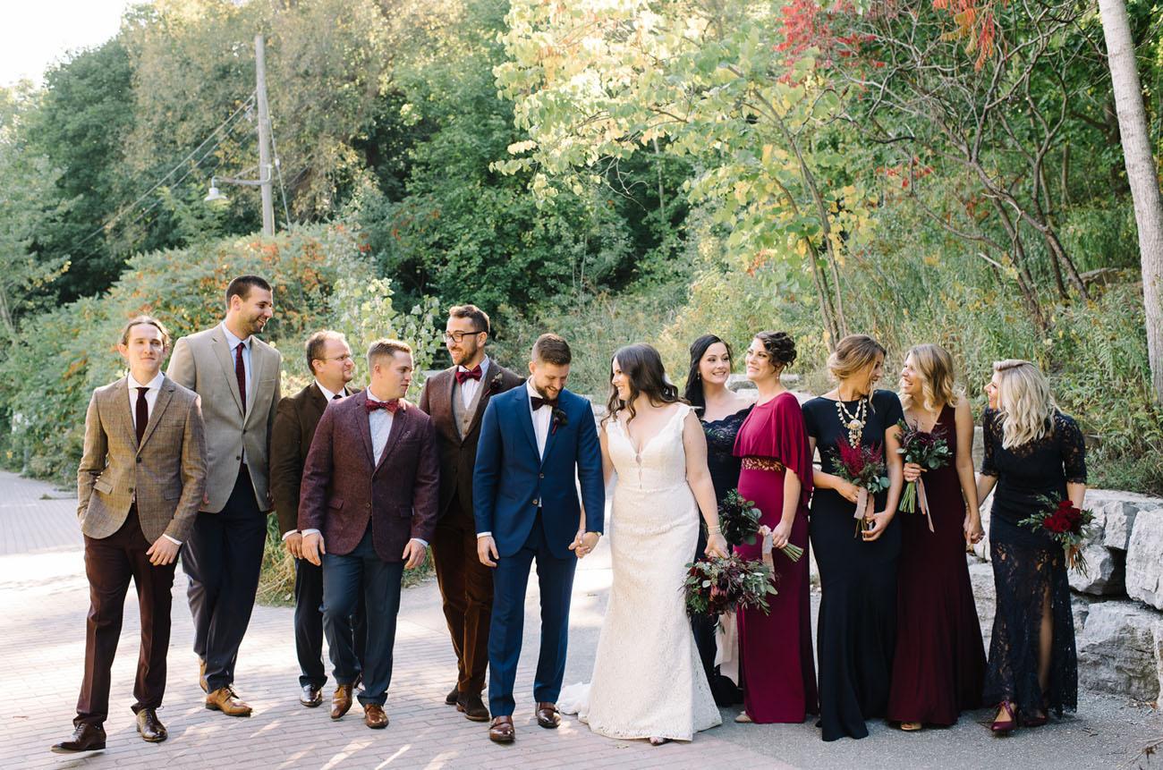 fall wedding party attire