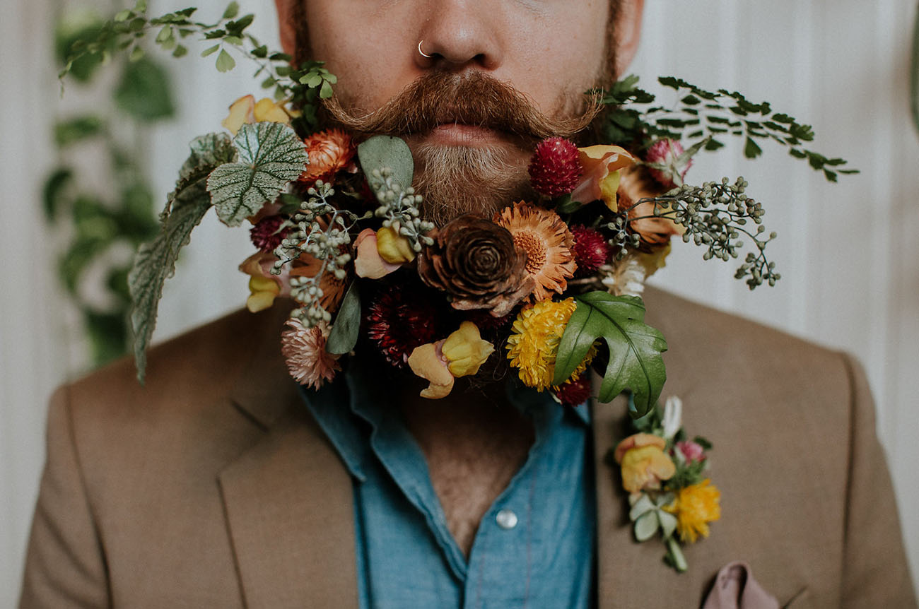 floral beard