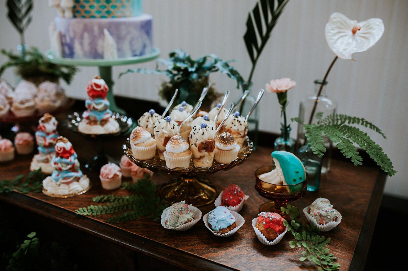 woodland dessert table