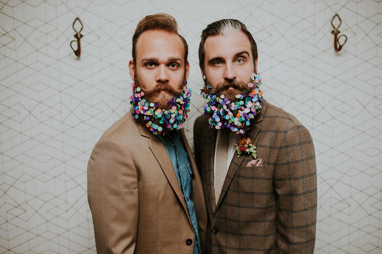 confetti beard