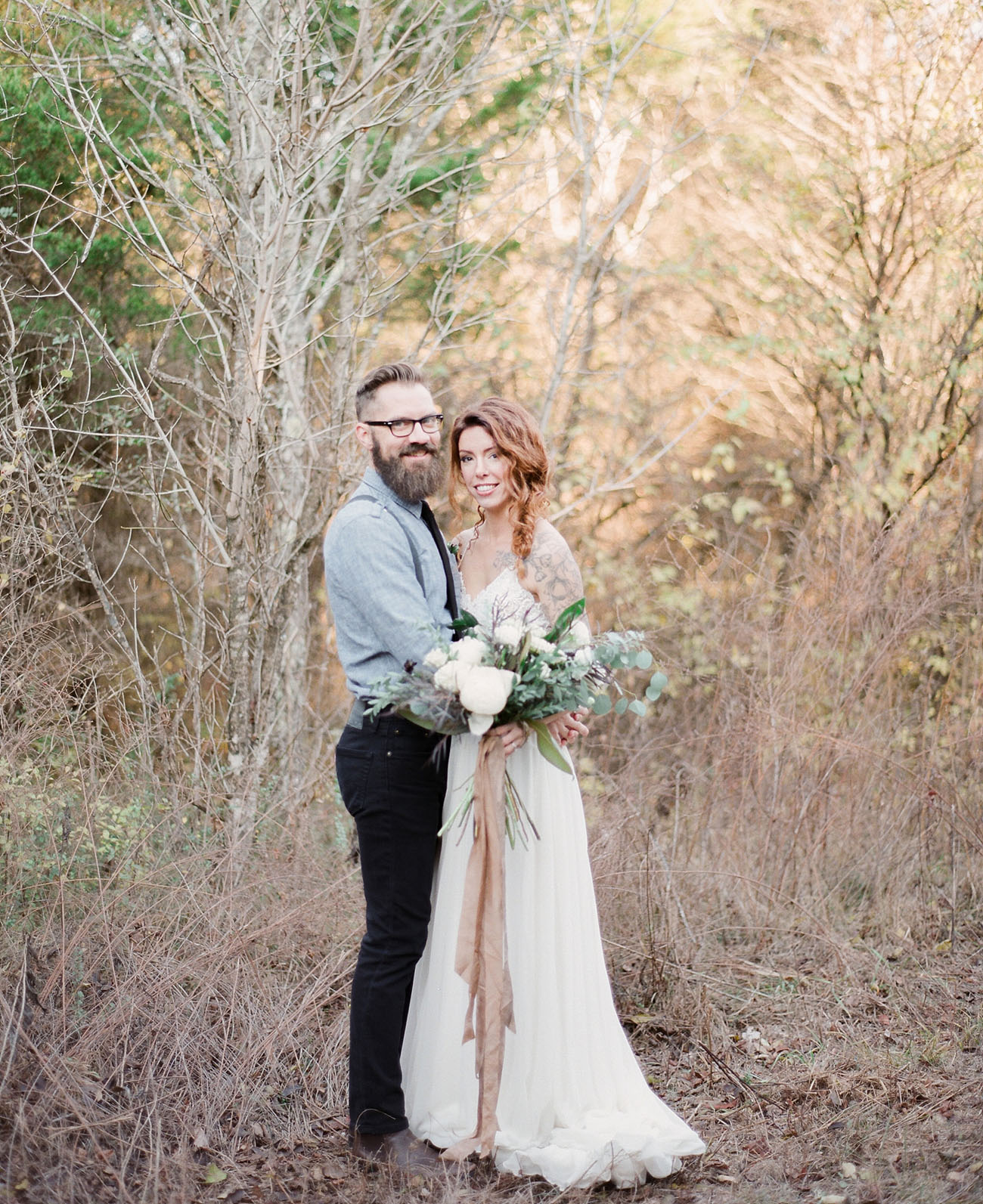 352af2b2b0be Edgy Bohemian Vow Renewal in the Woods - Green Wedding Shoes