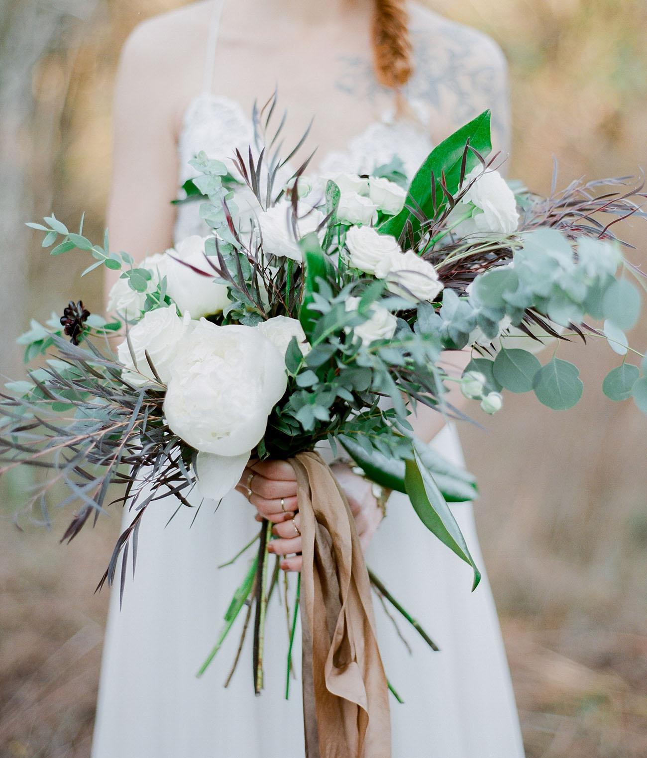winter wooden bouquet