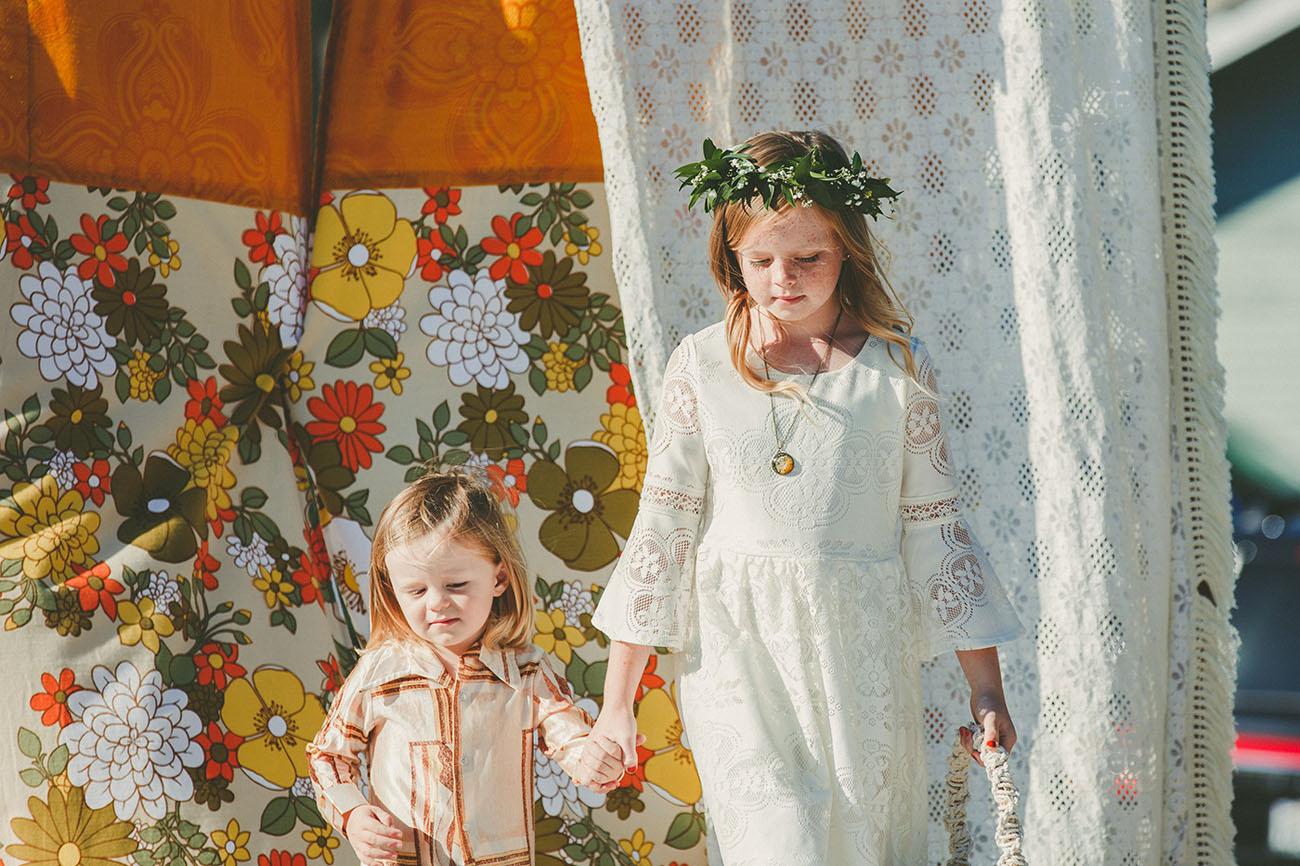 70s flower girls