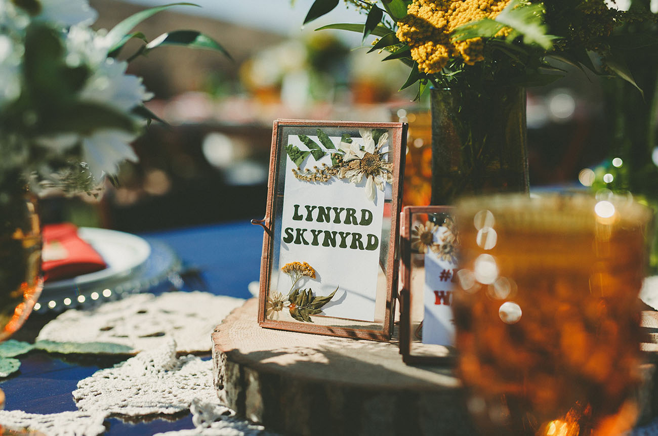 1960s Woodstock Themed Wedding