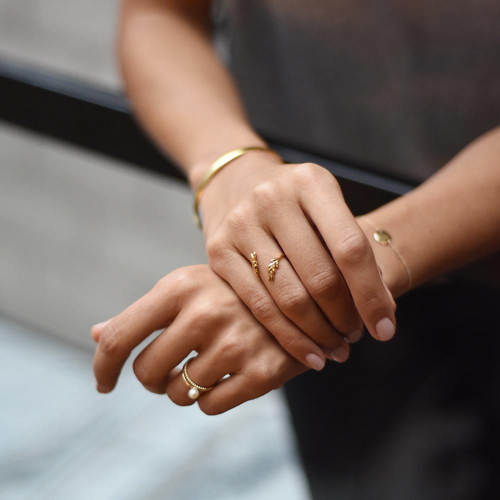 GWSxMejuri Olive Leaf Ring