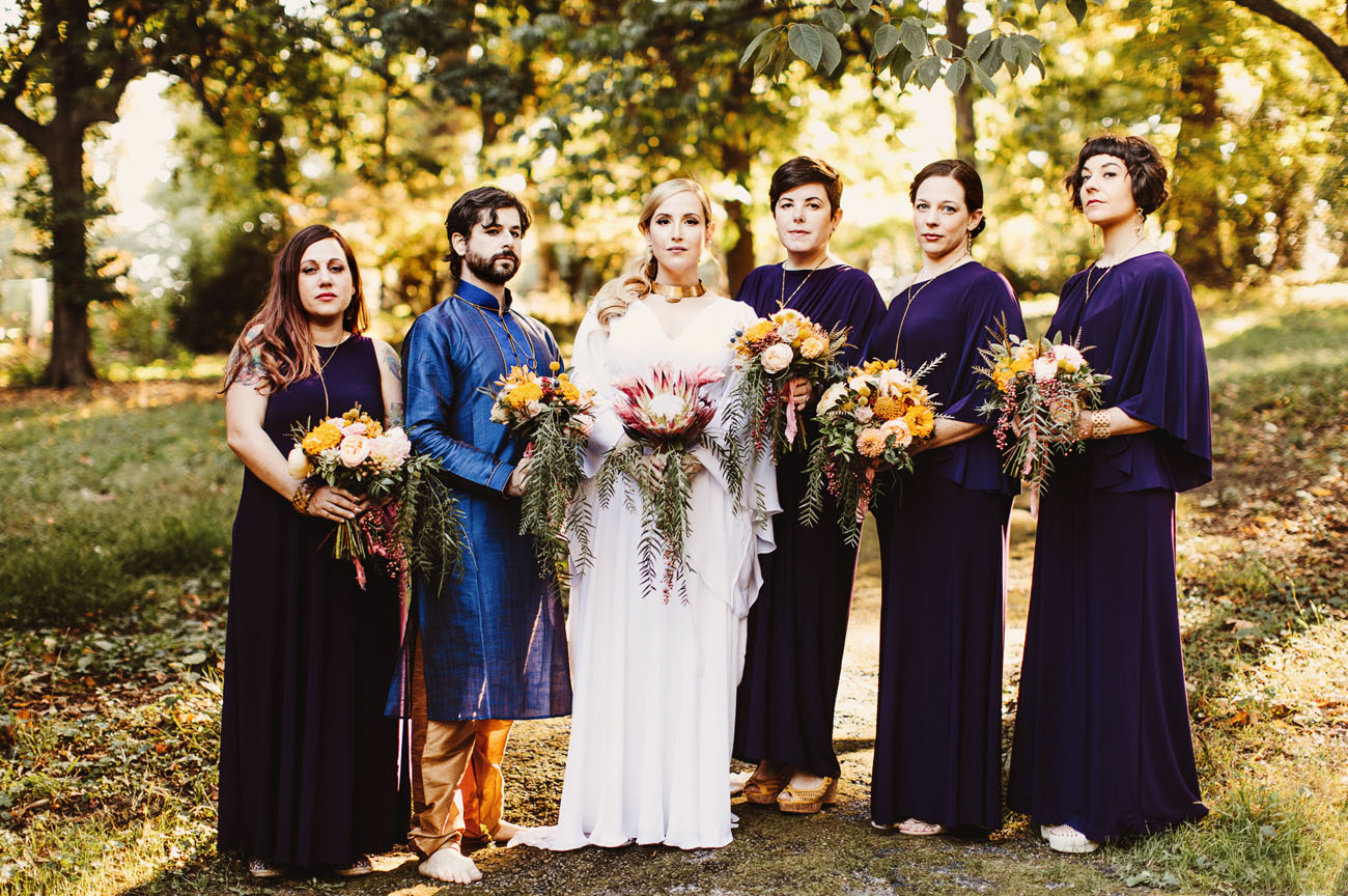 1970's California Cult Themed Garden Wedding