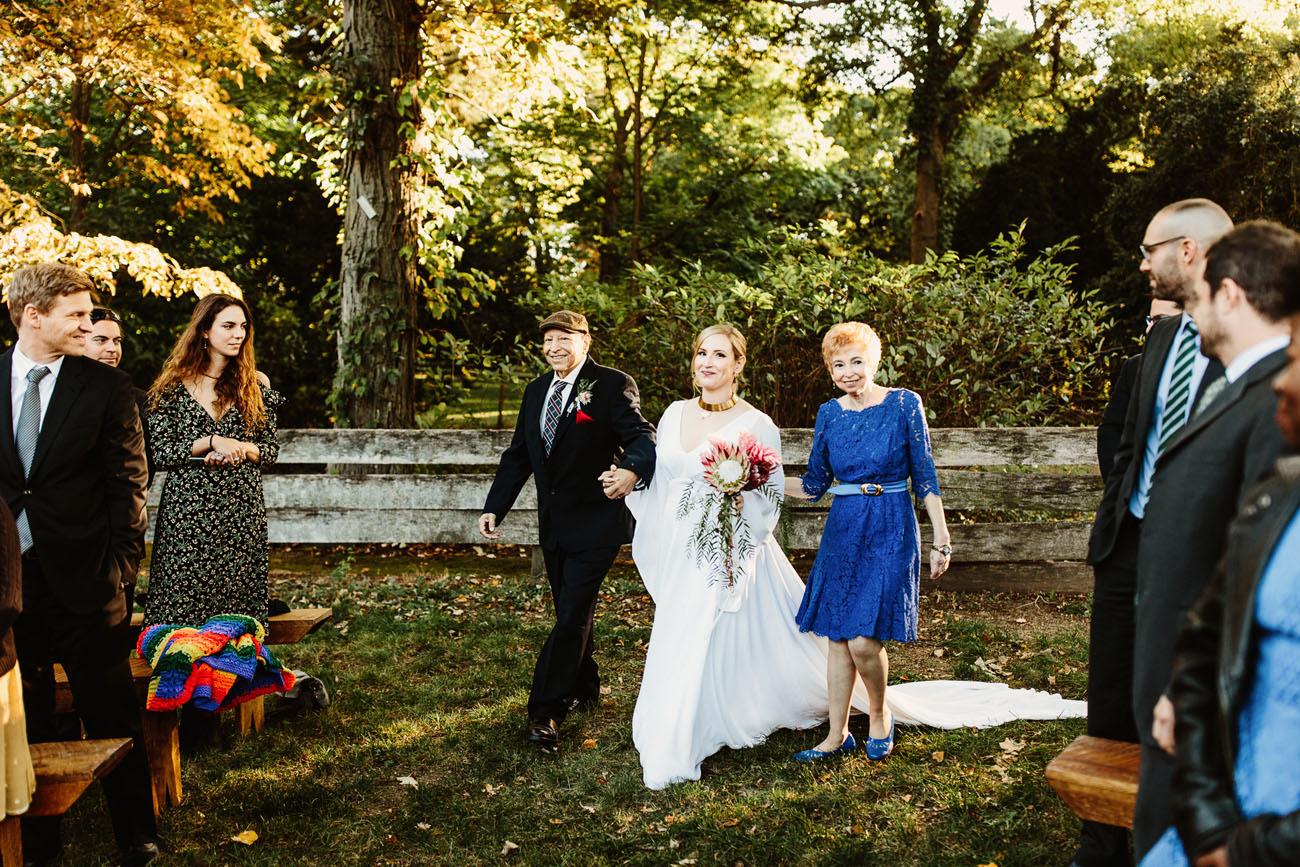 1970's California Cult Themed Garden Wedding