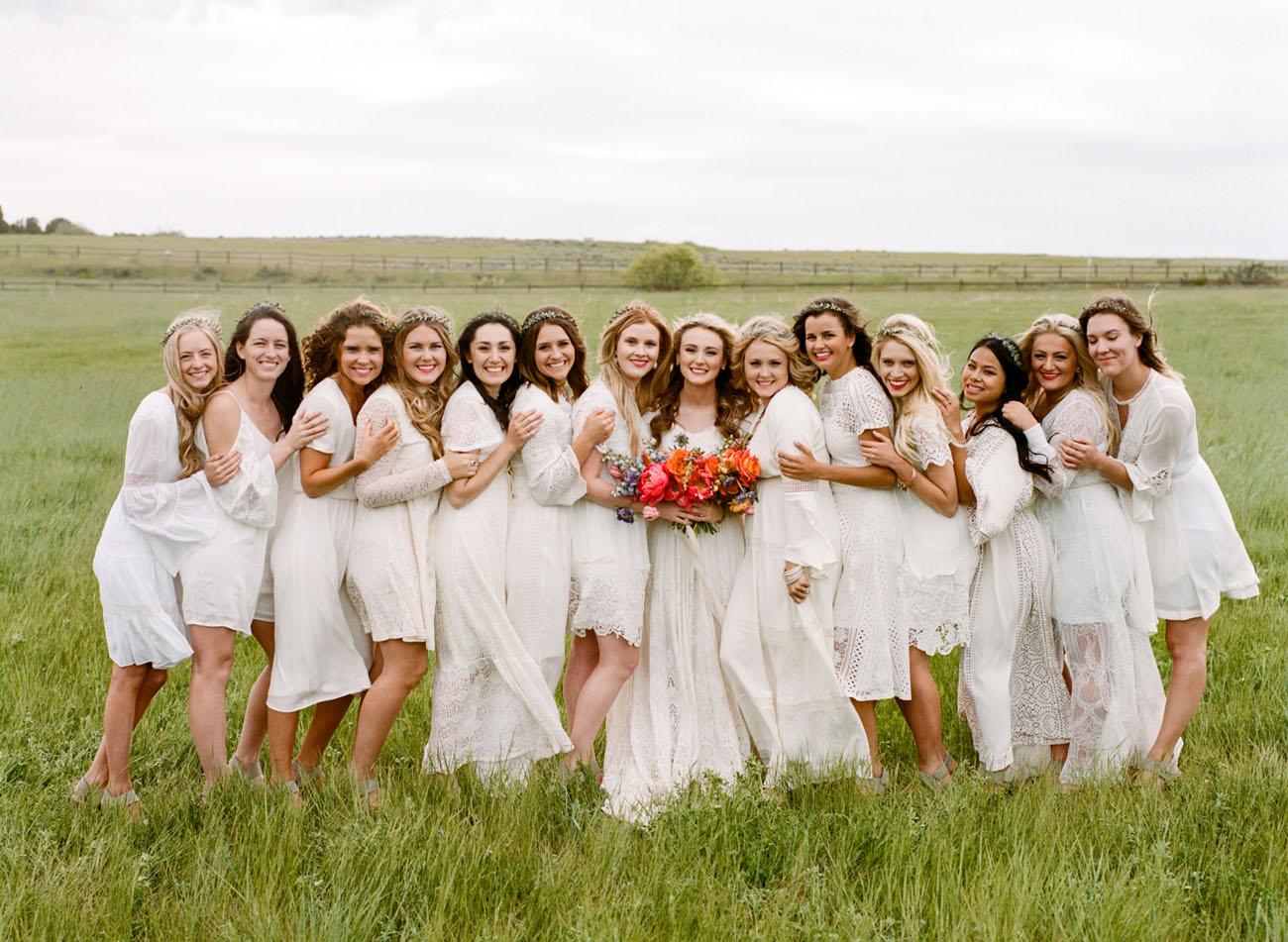 boho bridesmaids