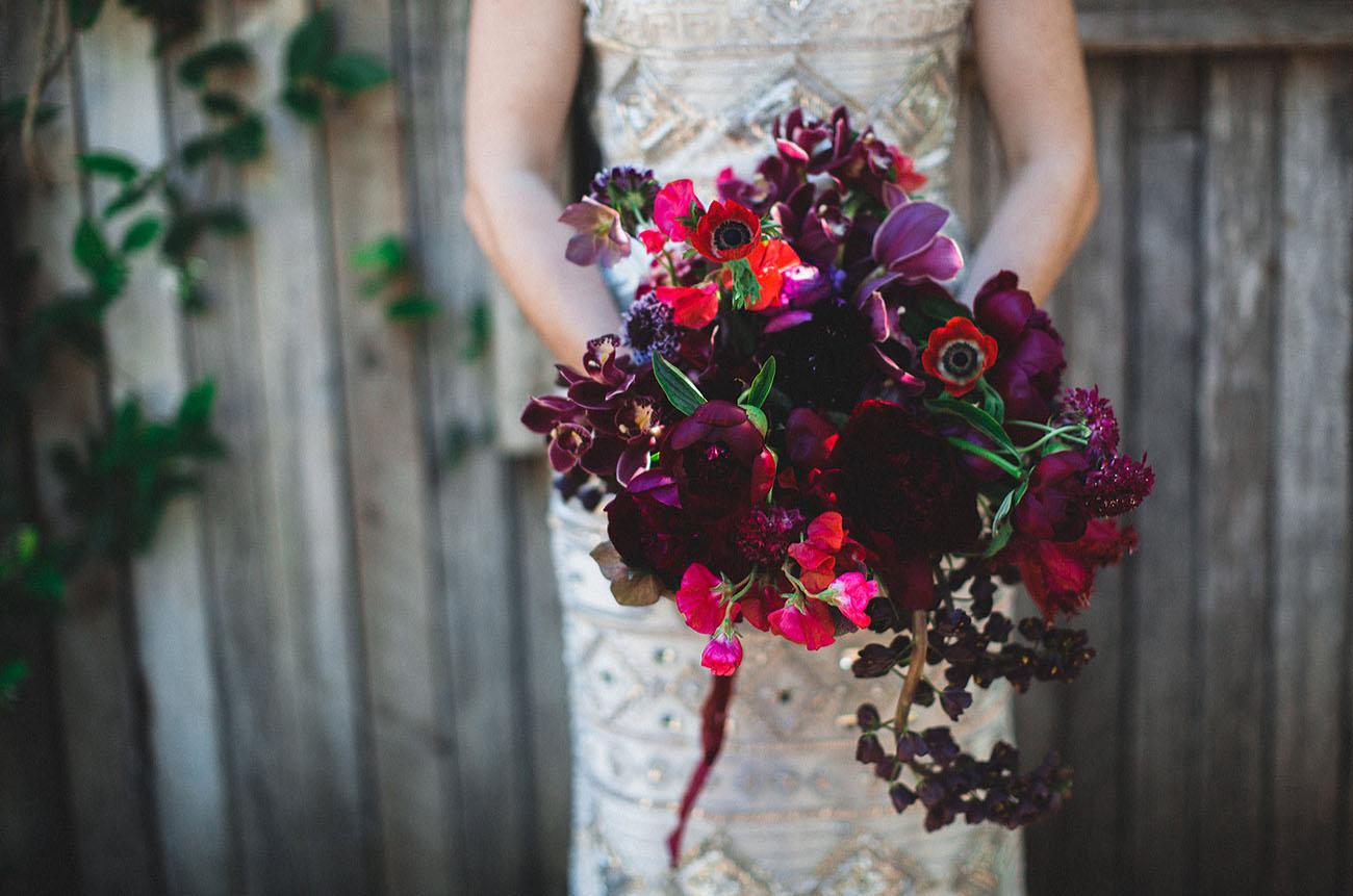 dark romantic anemone florals