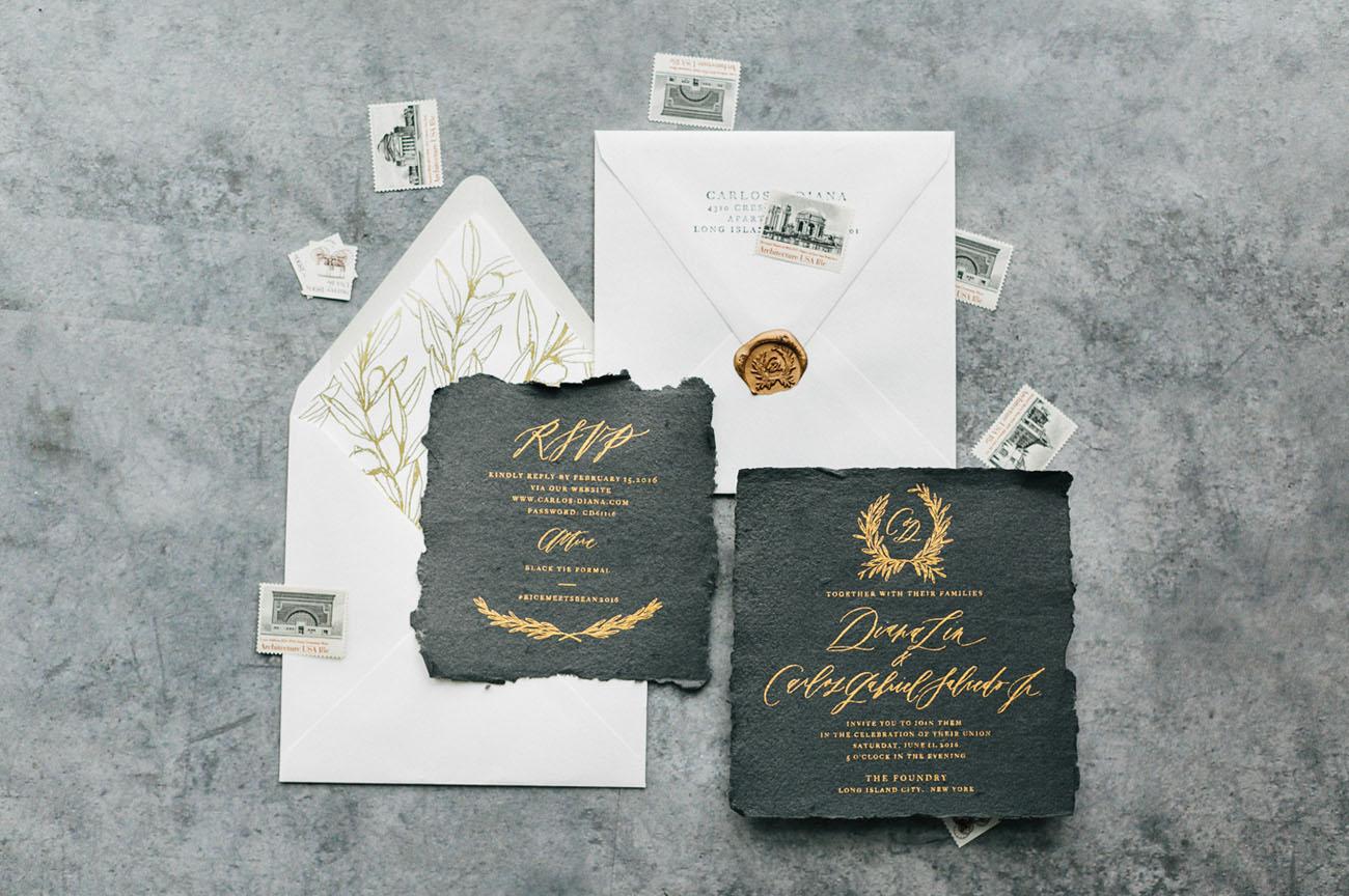 vintage torn invitation
