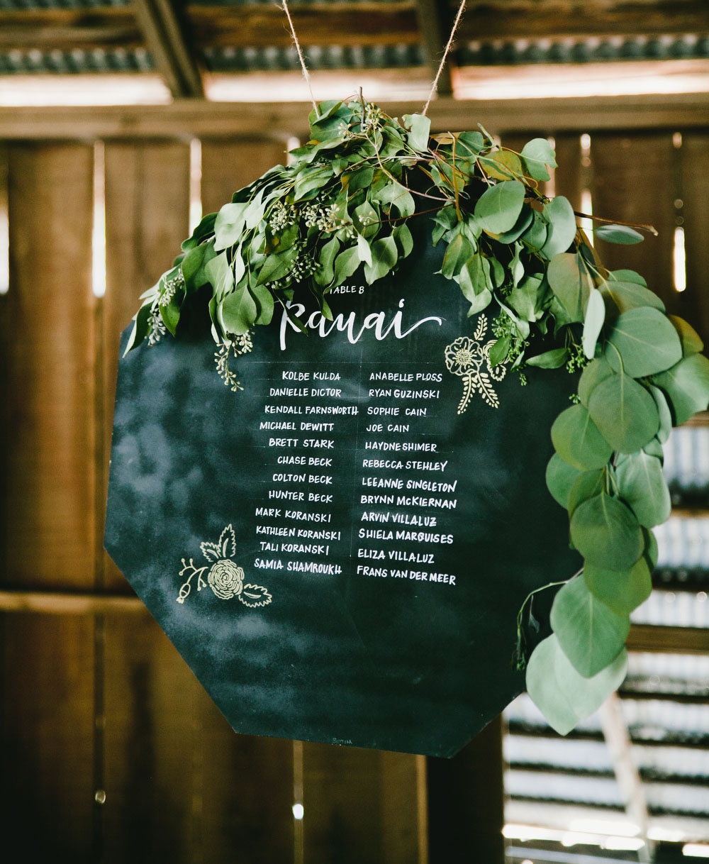 chalkboard seating charts