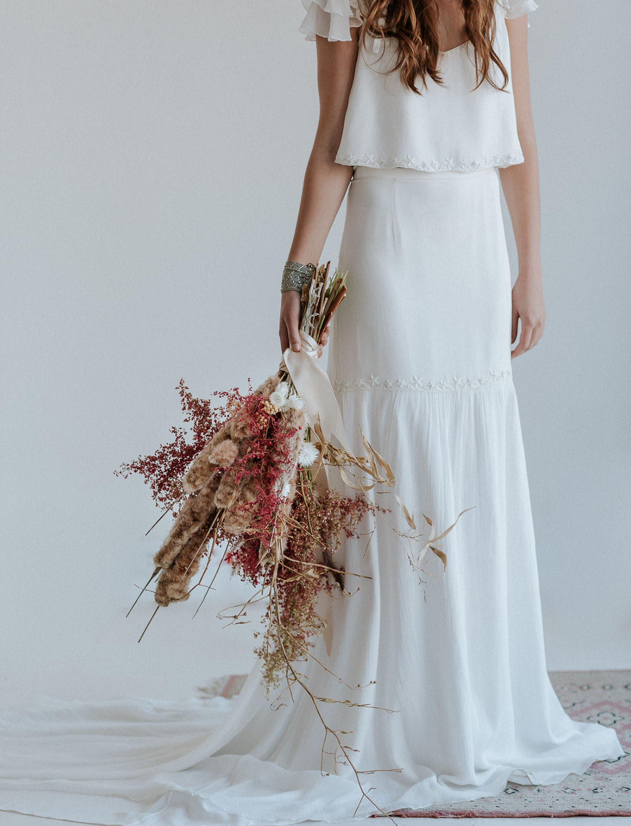 Middle Eastern-Inspired Boho Shoot with Bo & Luca Gowns - Green ...