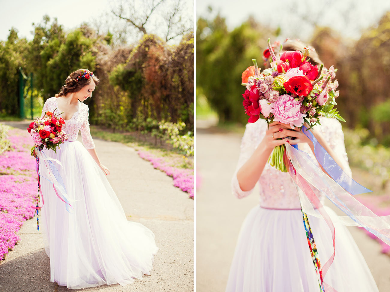 Spring fairytale bride