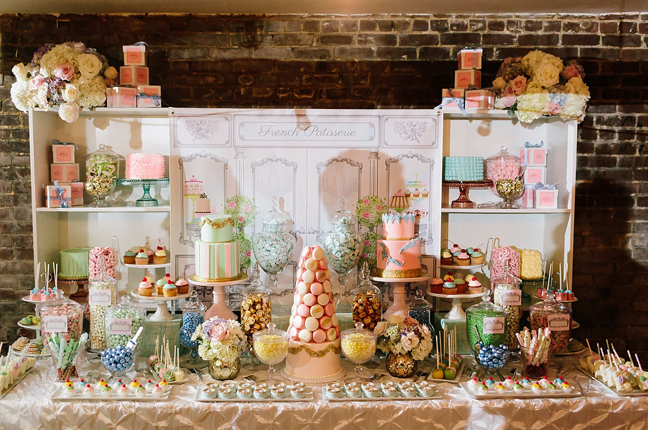 french inspired dessert table