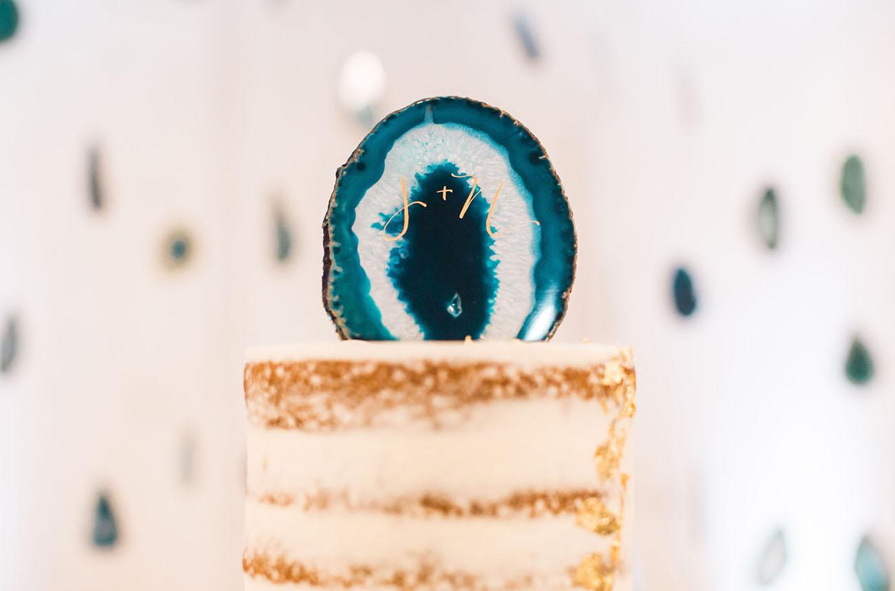 geode cake topper