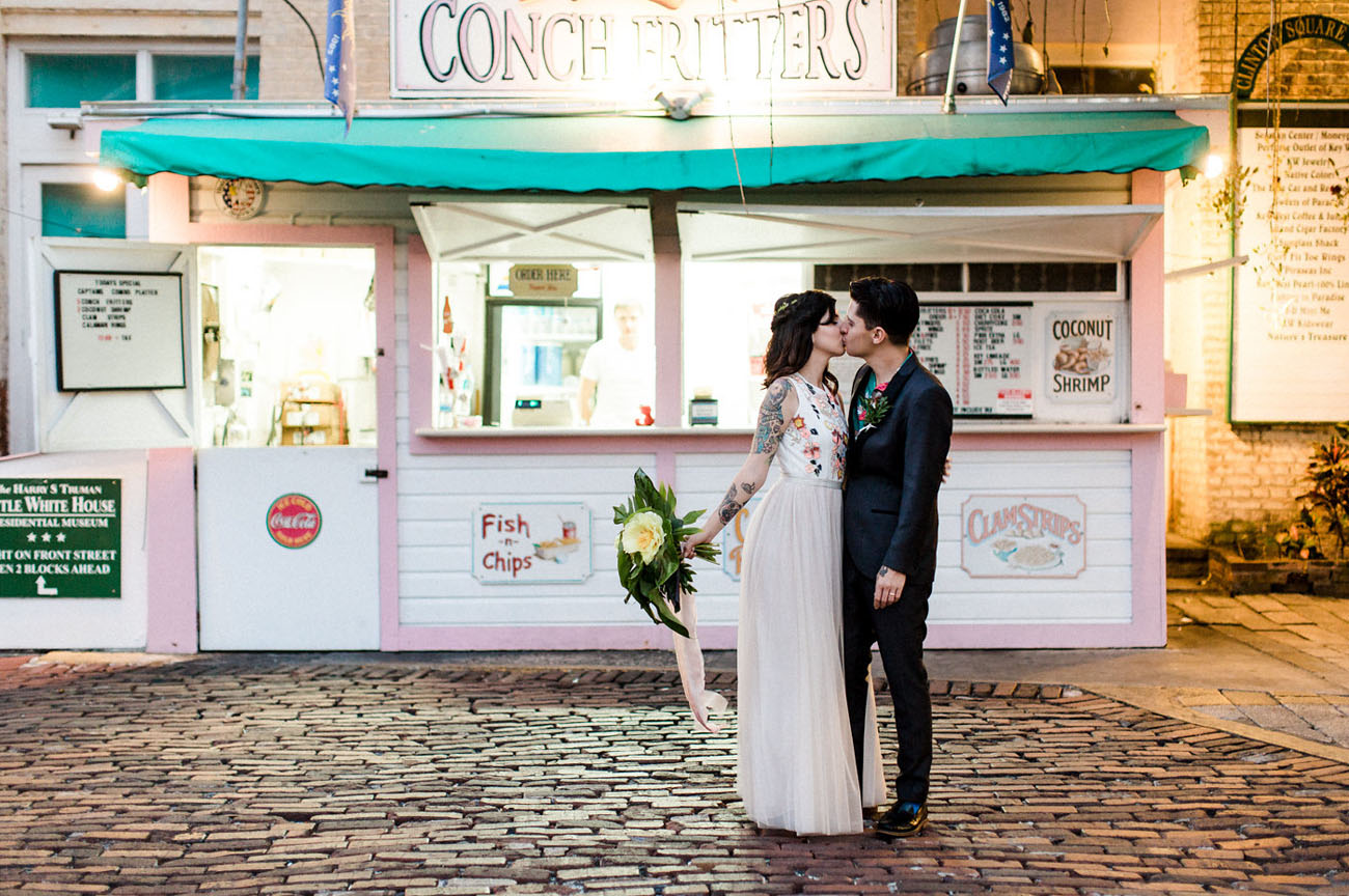 Kitschy Cute Tropical Key West Wedding
