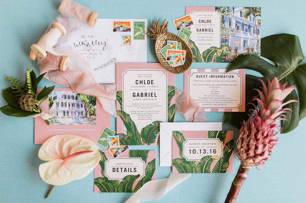 tropical wedding suite