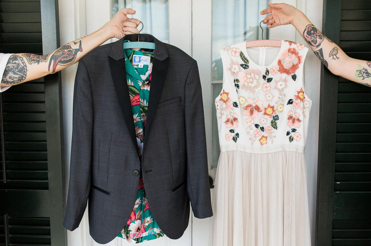tropical wedding attire
