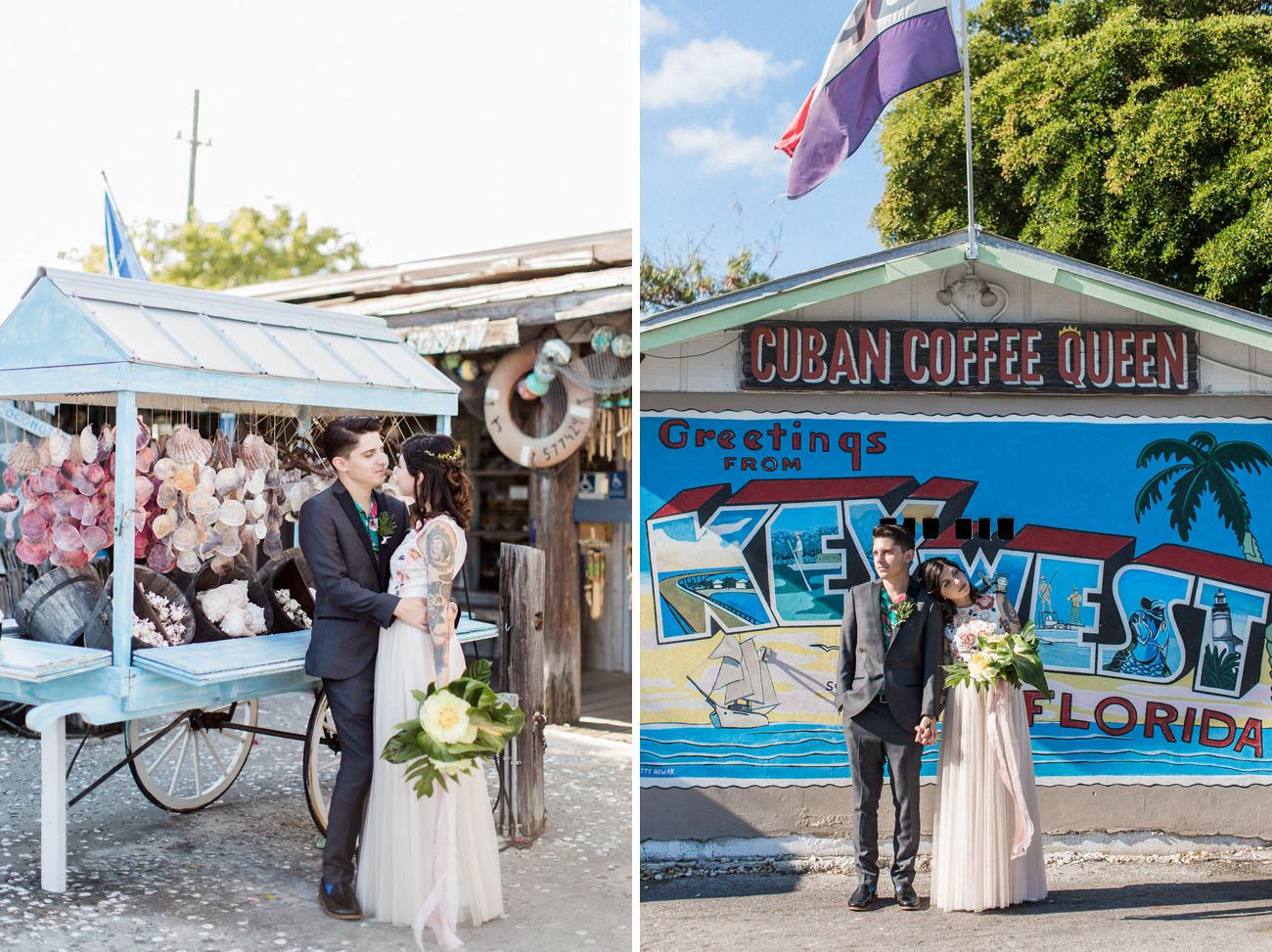 Kitschy Cute Tropical Key West Wedding