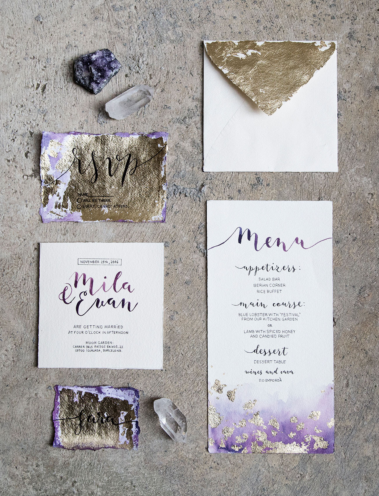 amethyst invitation