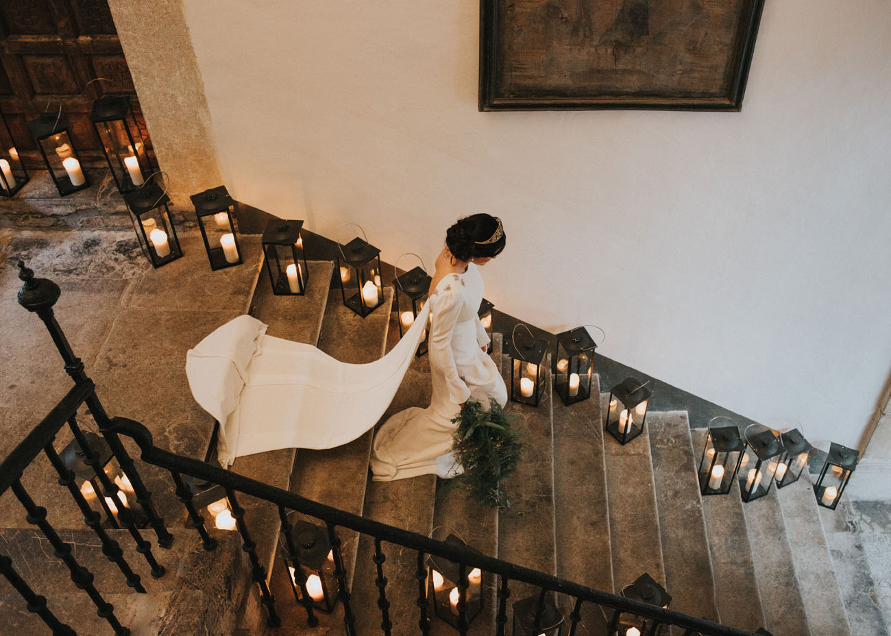 candle stairway