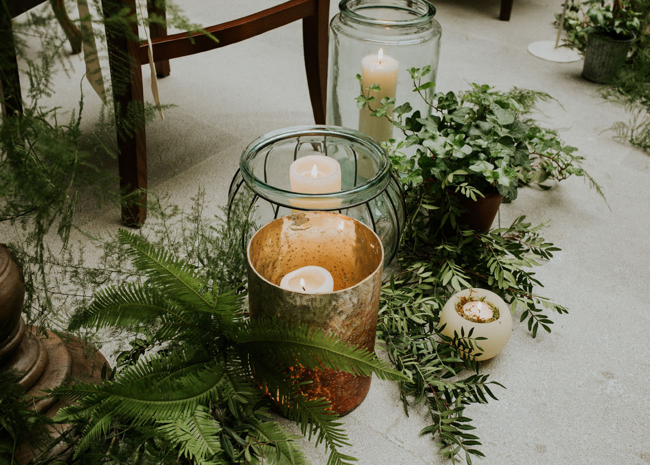 greenery aisle decor