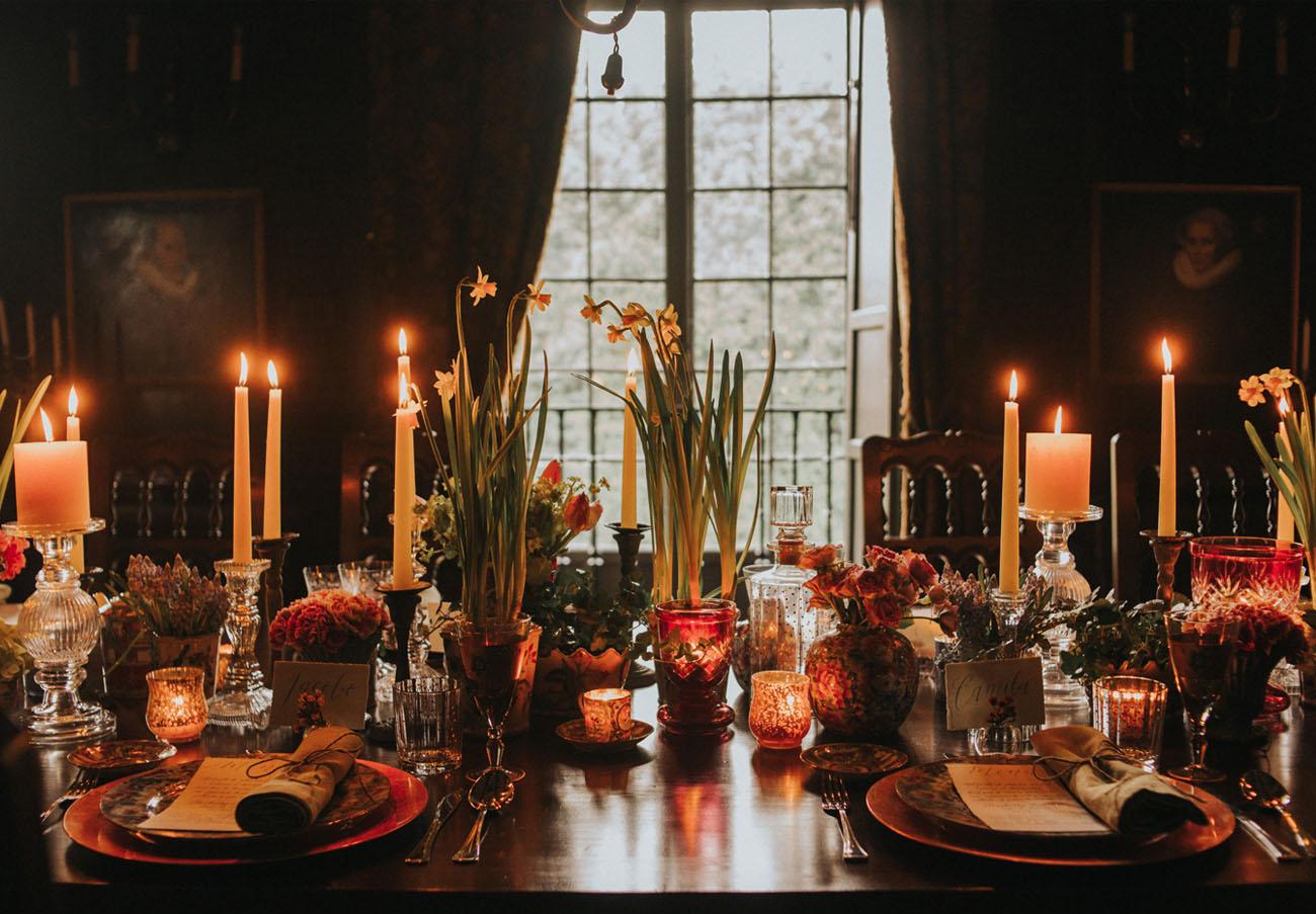 romantic dinner table