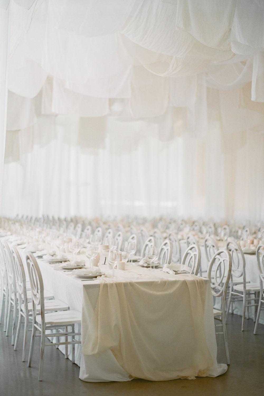 all white reception