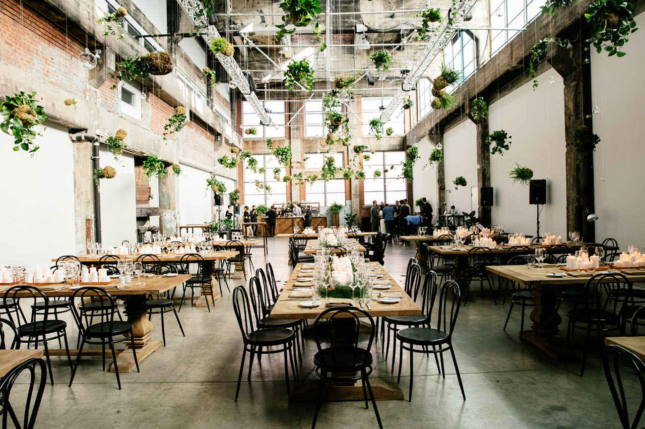 Nyc meets montreal for this industrial urban wedding green wedding shoes weddings fashion Home furniture rental montreal
