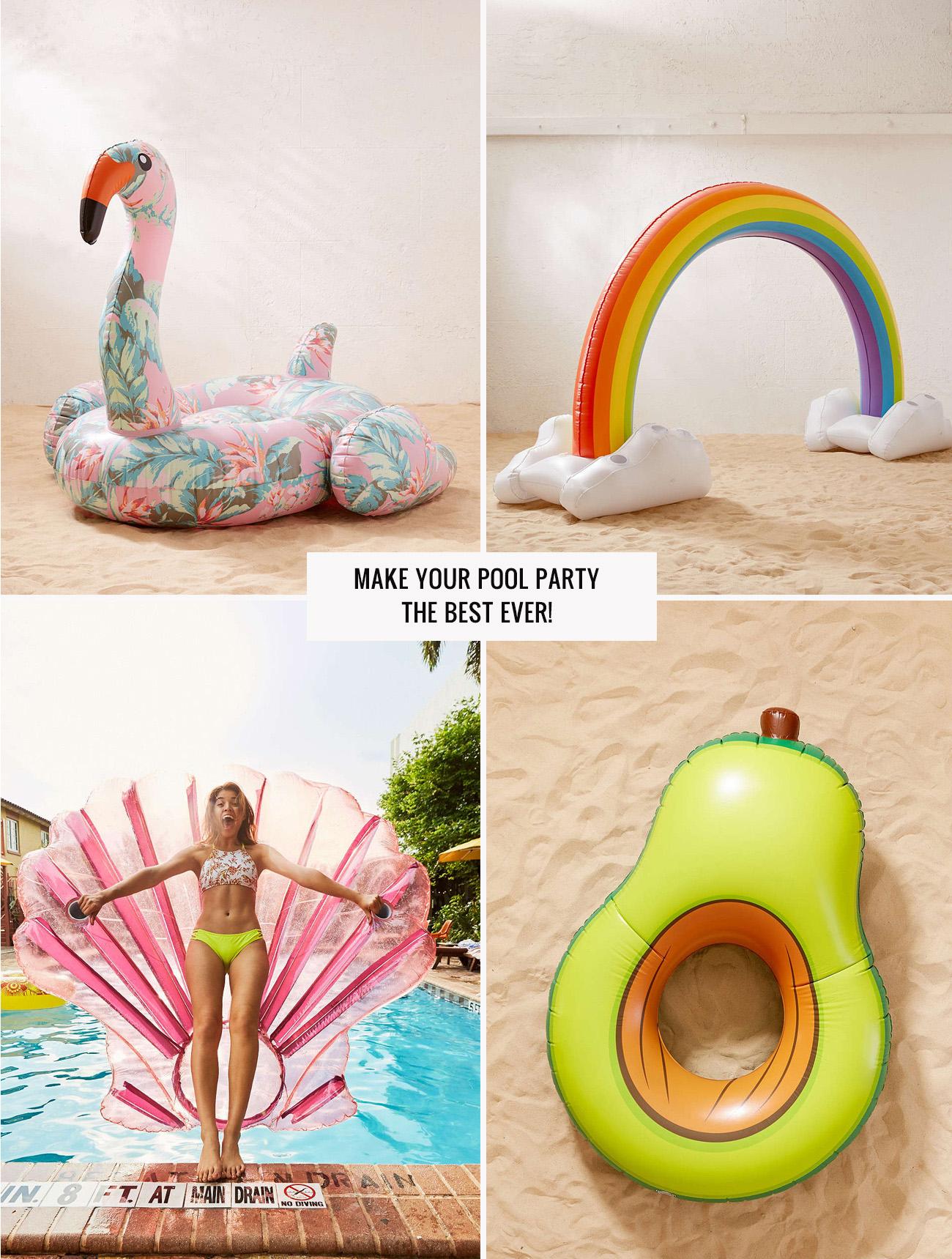 Giant Rainbow and Avocado Float