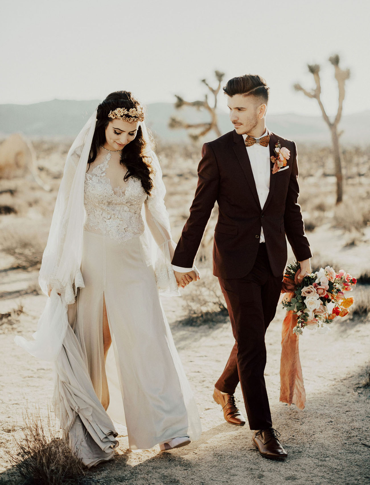 Romantic, Regal + Intimate Joshua Tree Wedding