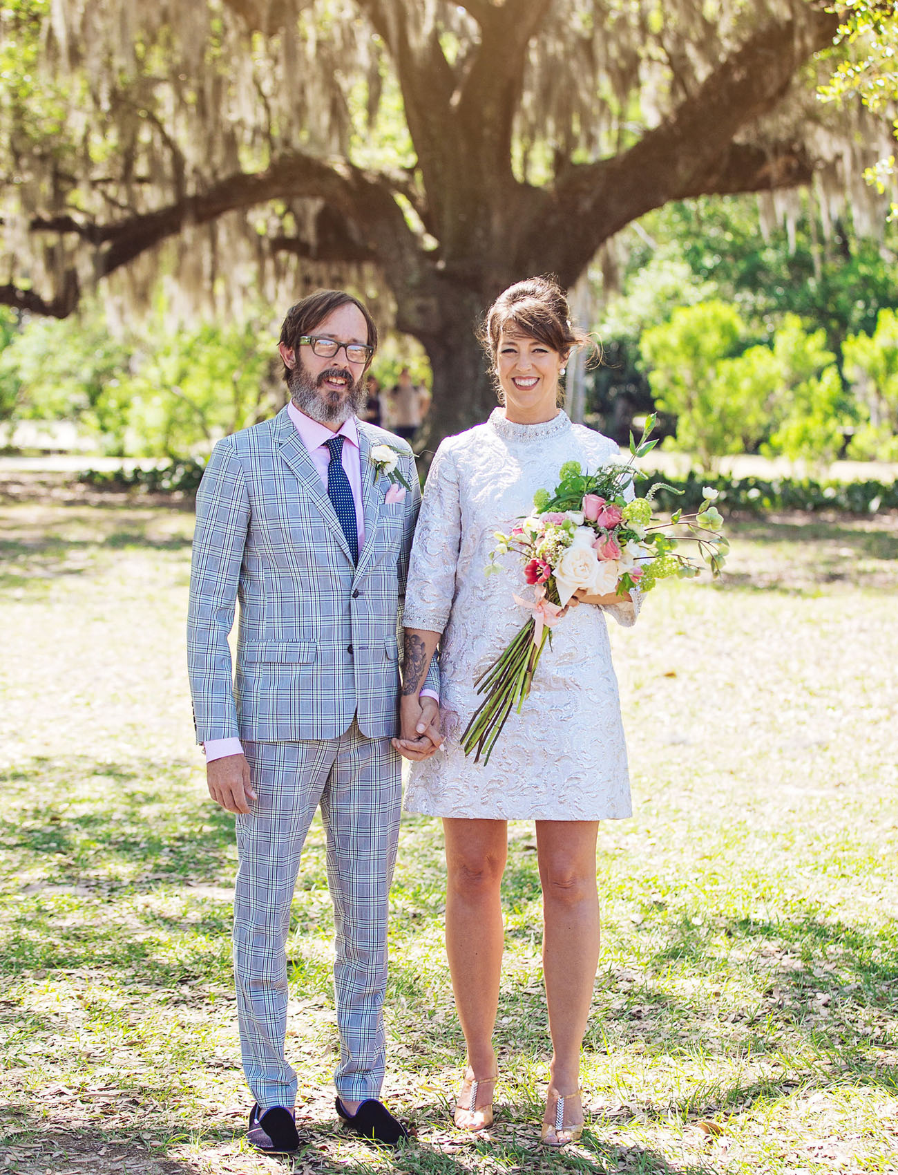 Vintage New Orleans Backyard Wedding