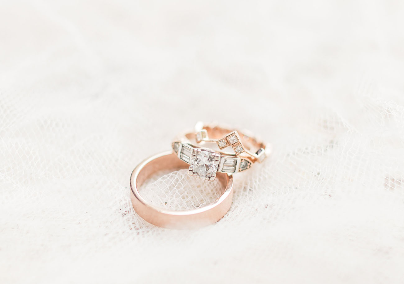 rose gold rings