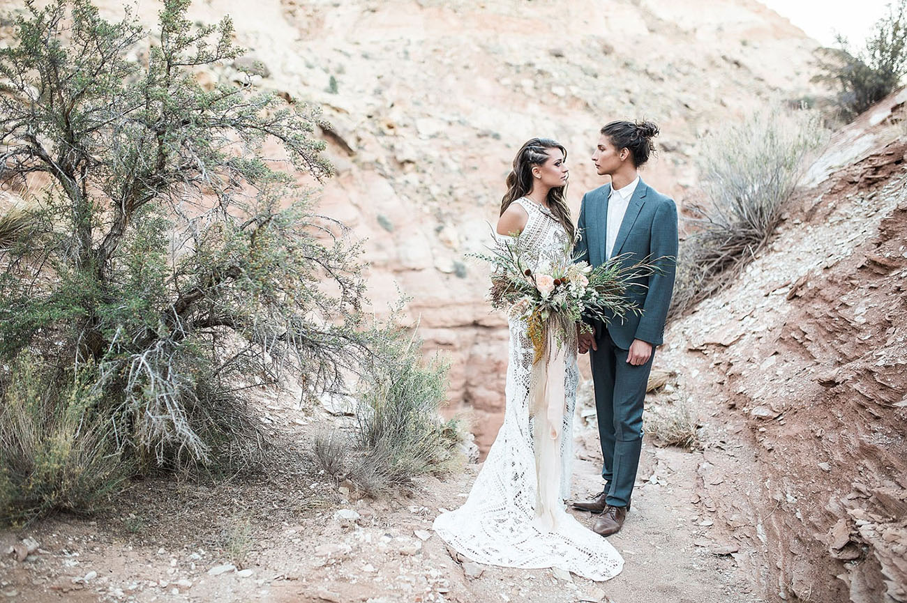 Zion Inspired Shoot Green Wedding Shoes