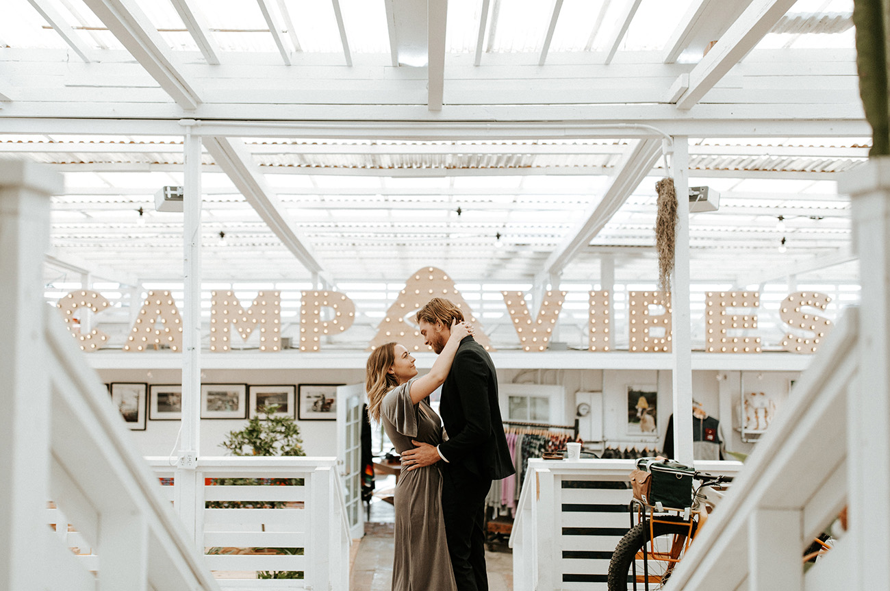 modern camp wedding